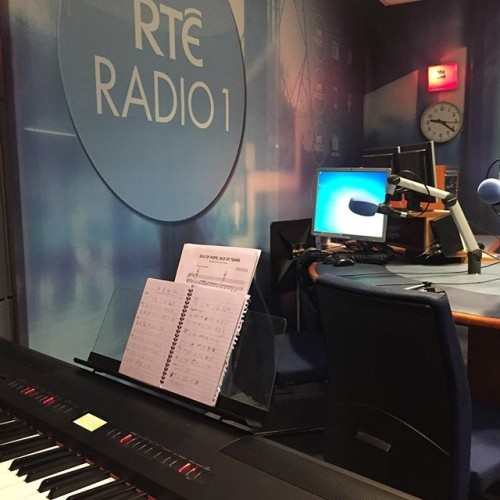 All set to go on @rteradio1 for a couple of songs