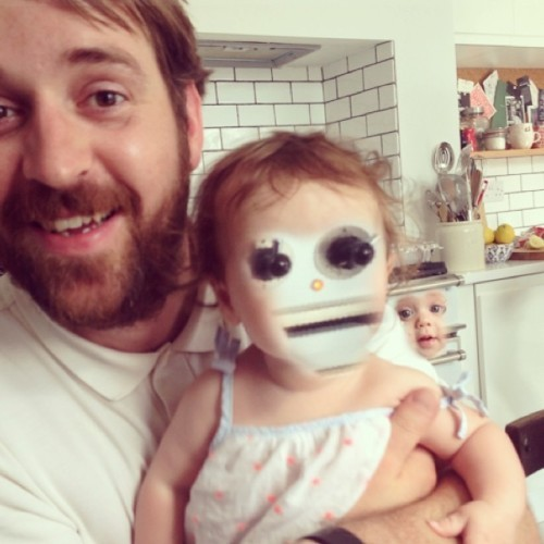 when this dad tried to do an adorable face swap with his baby it
