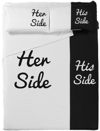 -6-pieces-lot-High-Quality-Personality-Lovers-Cotton-Bedding-Set-Her-Side-His-Side