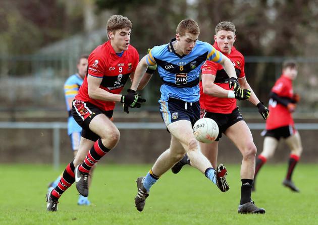 Ian Maguire and Conor Cox tackle Barry O'Sullivan