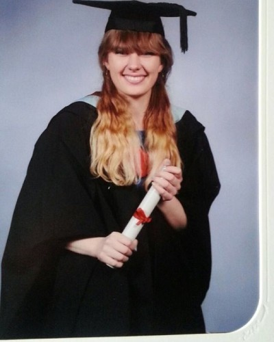 So my official graduation photos have arrived and I have no eyes thanks to the mortar board and my fringe! Im so annoyed haha, least my hair looks okay :) #graduation #graduationphoto #graduationofficialphoto #fringeproblems #motarboard #problems #chineseeyes