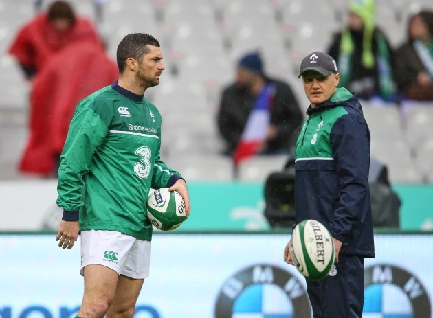 Rob Kearney with Joe Schmidt