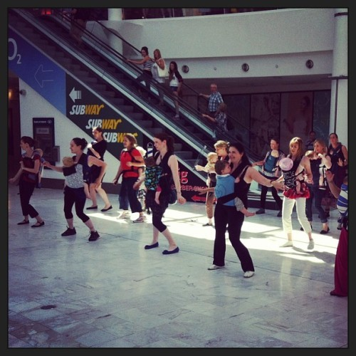 A flash mob in Liffey Valley this morning.