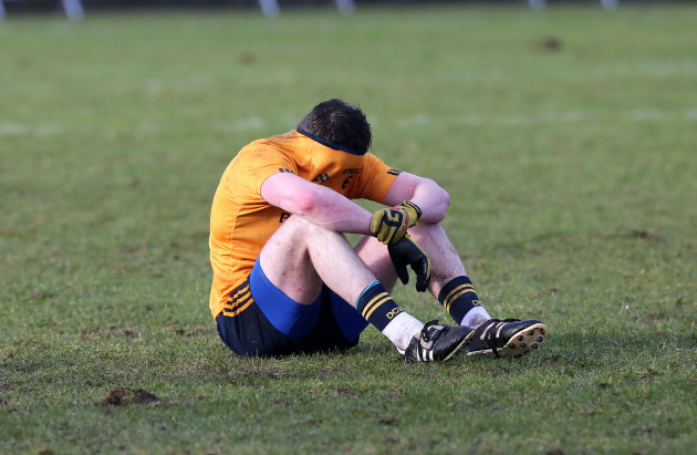 Conor Moynagh dejected after the game