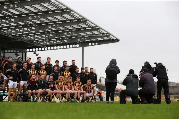 Kilkenny team pose for the pre match photograph