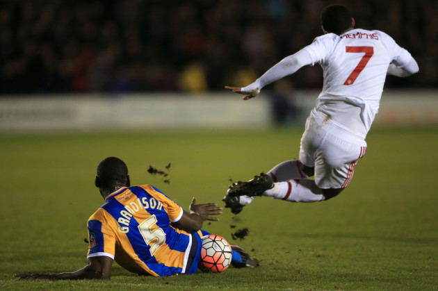 Shrewsbury Town v Manchester United - Emirates FA Cup - Fifth Round - New Meadow