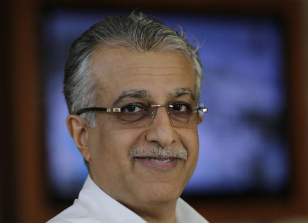 Mideast Bahrain FIFA Election-Sheikh Salman