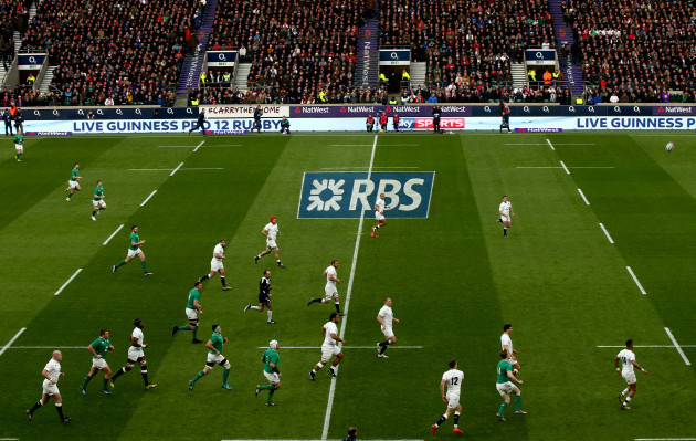 Natwest and RBS branding at the game