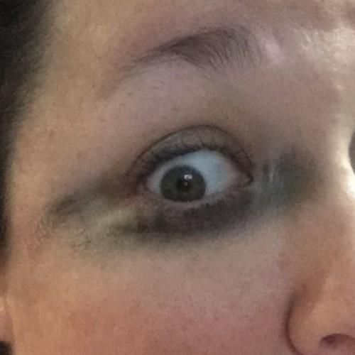 Thank goodness I didn't rub my eye any early today. I'm over this mascara. #mascarafail #makeupfail