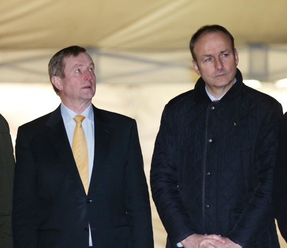File Photo Enda Kenny and Michael Martin Potential Partners in Government.