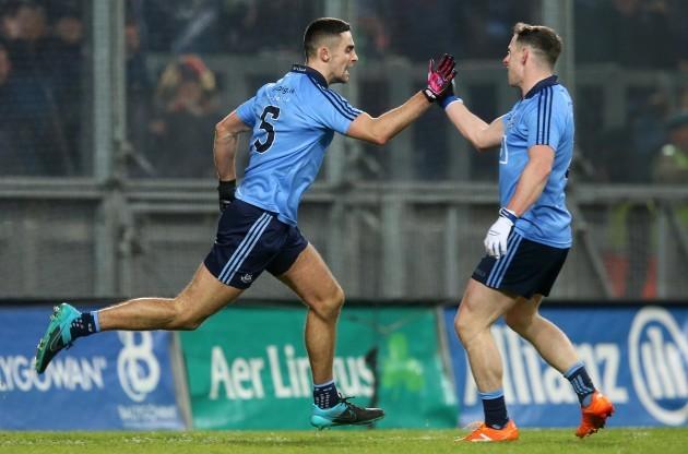 James McCarthy celebrates scoring a late goal