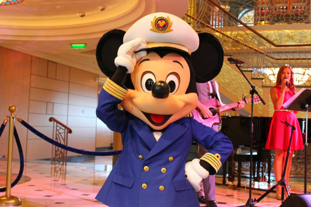 Mickey Mouse on the Disney Fantasy