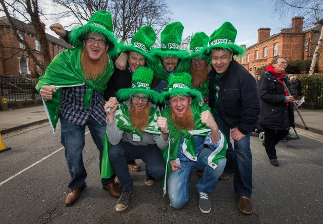 Ireland fans from Bailieboro, Cavan