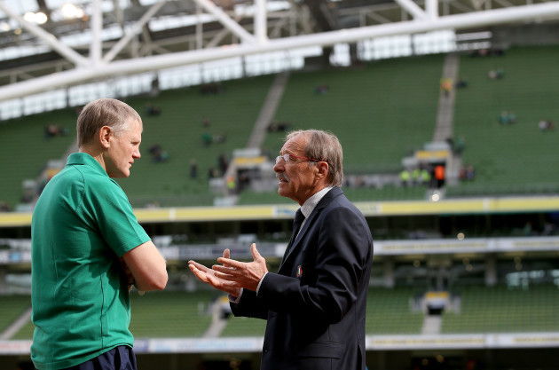 Joe Schmidt with Jacques Brunel