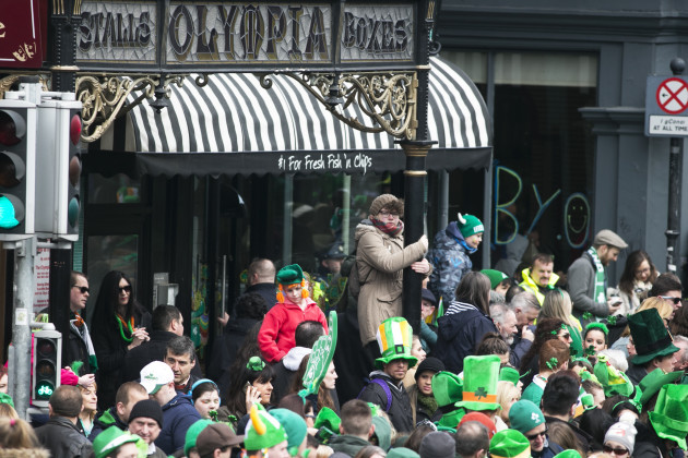 17/3/2016. Saint Patricks Day Parades Festivals