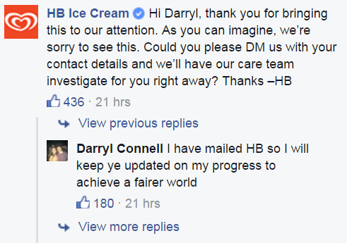 This Cork man\'s Brunch ice cream complaint struck a chord on Facebook