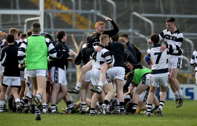 The Kierans team celebrate at the final whistle