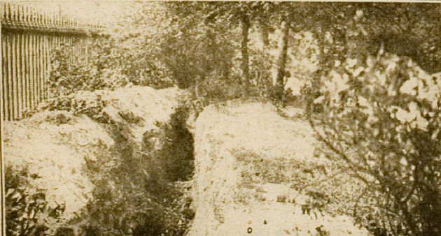 Trench in Stephen's Green