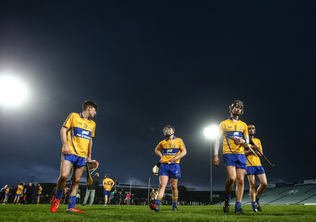 Tadhg Connellan, David Fitzgerald, Cian McInerney and Keith White dejected after the game