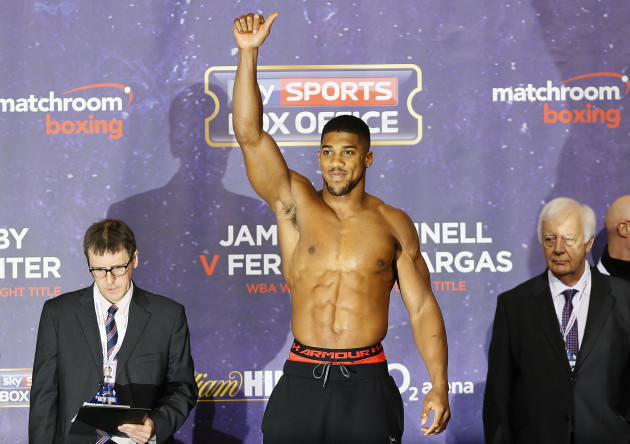 What TV channel is Anthony Joshua vs Charles Martin fight on?