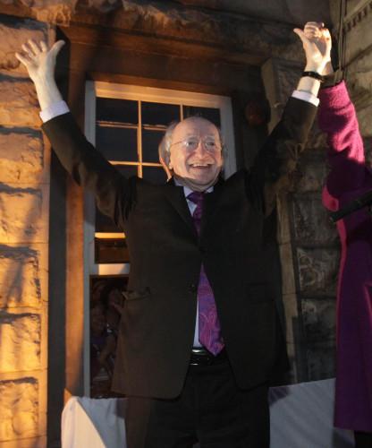 Michael D Higgins victory celebrations