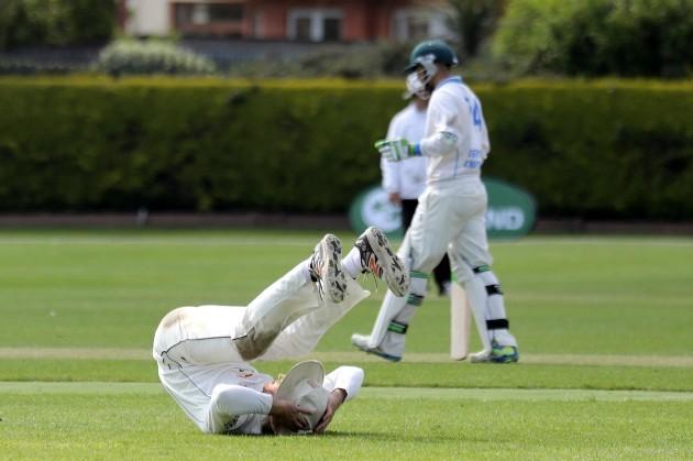 Jamie Holmes stretches