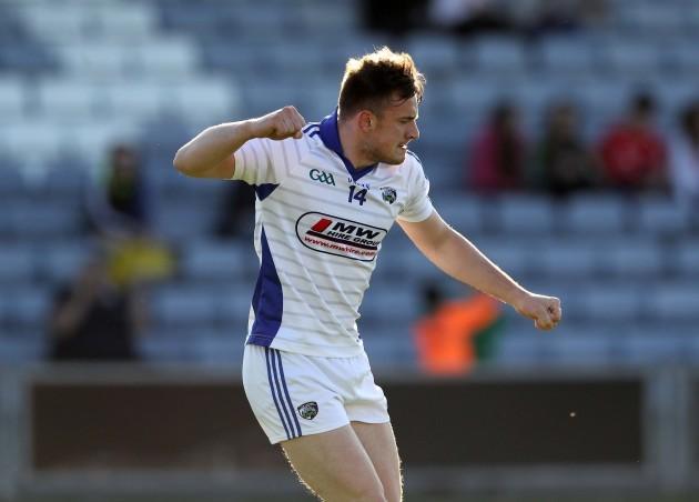 Gary Walsh celebrates scoring a goal