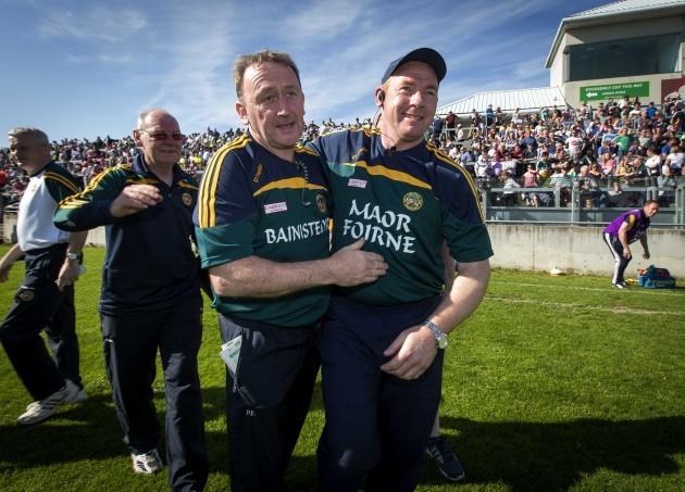 Pat Flanagan celebrates