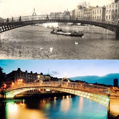 Happy 200th Birthday to the Ha'penny Bridge. Built in 1816, the #HapennyBridge was the first pedestrian bridge to cross the River Liffey in Dublin. #Dublin #Ireland #HappyBirthday #bridge #architecture #architecturelovers #RiverLiffey #Liffey #instacity #instaireland #insta_ireland #citylife #history #irish #birthday #igdublin #igersdublin #dublincity #lovindublin