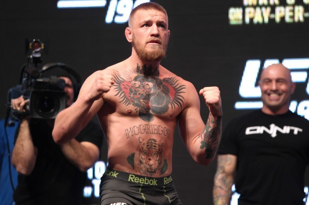 Conor McGregor weights-in