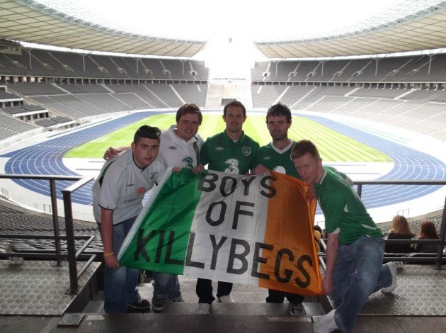 Jason Byrne, Ryan Rooney, Barry Cannon, Slua Boyle and Stepen Leslie at the Olympiastadion, Berlin, in 2012 (1)