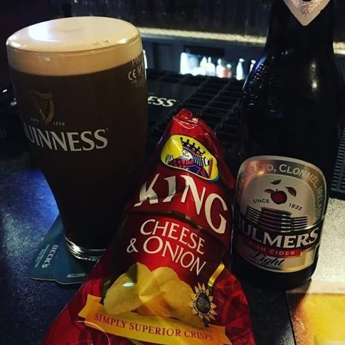 The #tasteofhome #kingcrisps #guinness #bulmers #ireland