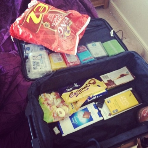 Nearly full and there's no clothes in there!! #familylivingabroad #kingcrisps #theywantsuperquinnsausagestoo#holidays #france #family