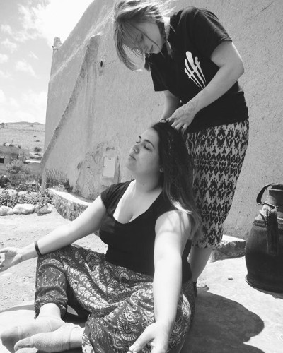 Black and white. #beaphotographer7 #blackandwhite #travels #morocco #hairbraid #friends #hippy #mountains #peace #bhpco throw back to last month when my college went to Morocco to help the less fortunate.