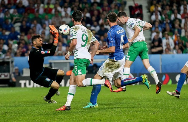 Robbie Brady scores his sides first goal
