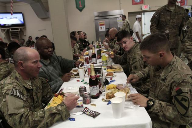 Afghanistan US Troops Christmas