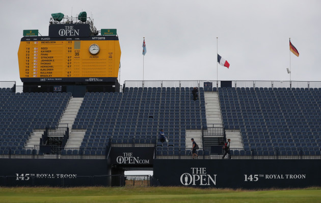 Prayers for Nice as 2nd round begins at the British Open