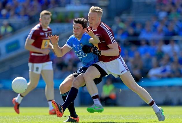ernard Brogan with Killian Daly
