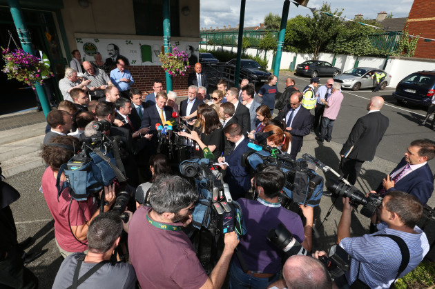 20/07/2016 The Taoiseach speaking to the media as