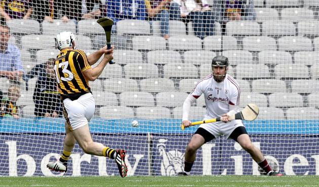 Jonjo Farrell scores a goal