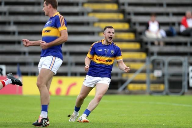Kevin O'Halloran celebrates his goal