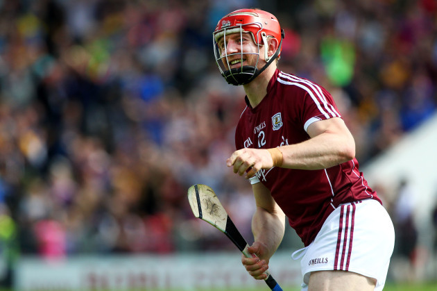 Joe Canning of Galway scores a goal