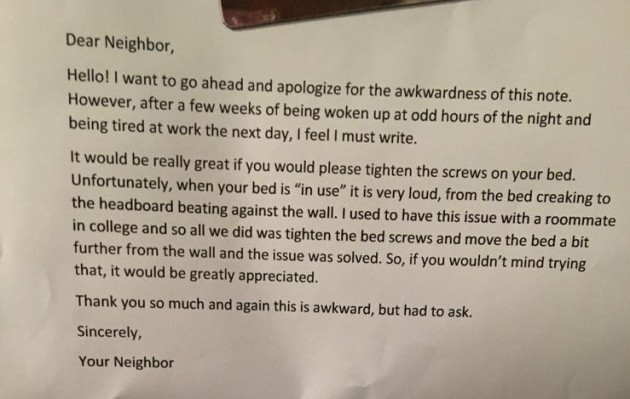 This guy arrived home to the soundest note from his neighbour about