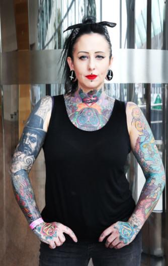 Nude girl nazi tattoo — photo 10