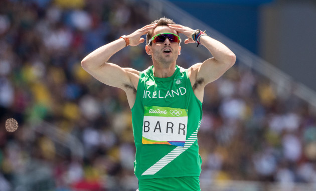 Tomas Barr after finishing fourth