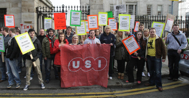 Postgraduate student fees protest