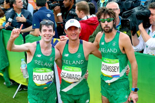 Paul Pollock, Kevin Seaward and Mick Clohisey
