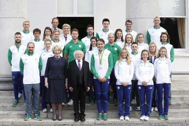 28/08/2016. Members of Team Ireland who competed a
