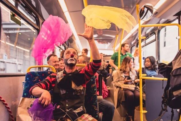 Culture Night Dublin Bus Tour Clown