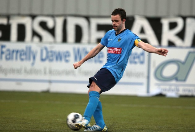 Robbie Benson scores from the penalty spot